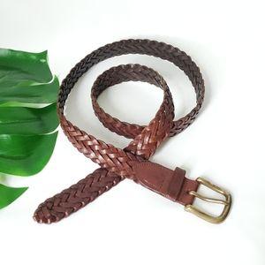LEVI'S Vintage New Full Grain Braided Leather Belt